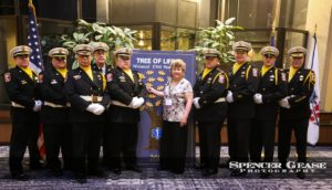 Shane Clifton Mother Bonnie and the EMS Honor Guard