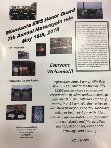 2018 MN EMS Honor Guard Motorcycle Ride